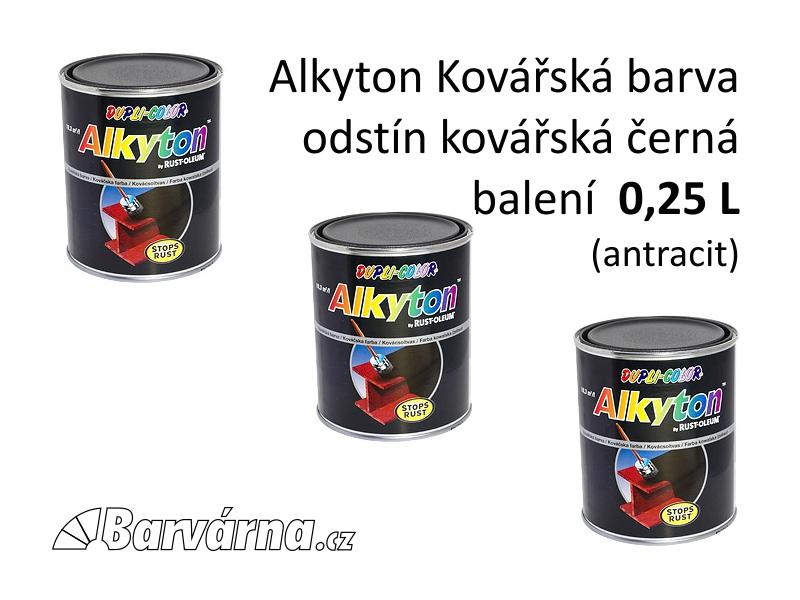 Alkyton kovářská barva černá 0,25 L