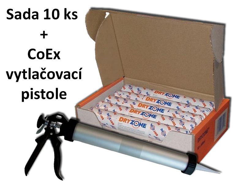 DRYZONE hydroizolační krém | sada 10 x 600 ml + pistole | gel proti vlhkosti zdiva