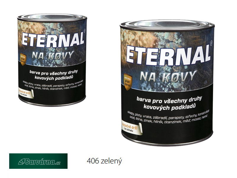 ETERNAL na kovy 0,7 kg zelená 406