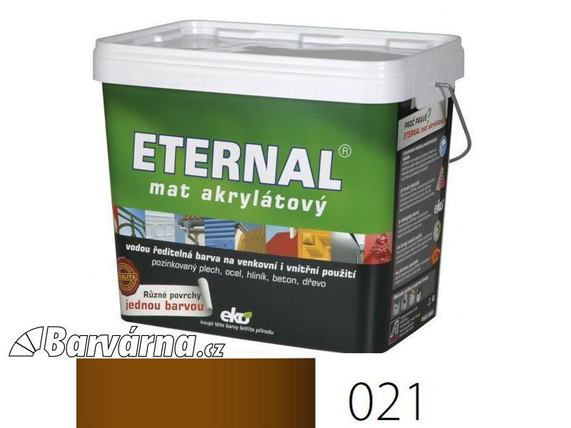 ETERNAL mat akrylátový 10 kg hnědý 021