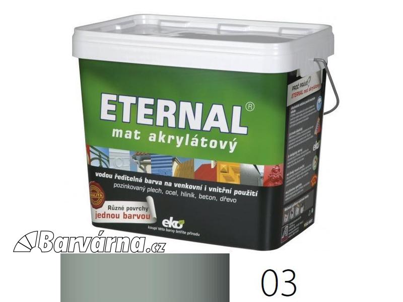 ETERNAL mat akrylátový 10 kg středně šedý 03