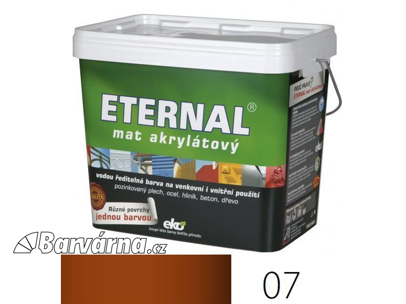 ETERNAL mat akrylátový 10 kg červenohnědý 07