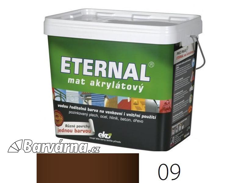 ETERNAL mat akrylátový 10 kg tmavě hnědý 09