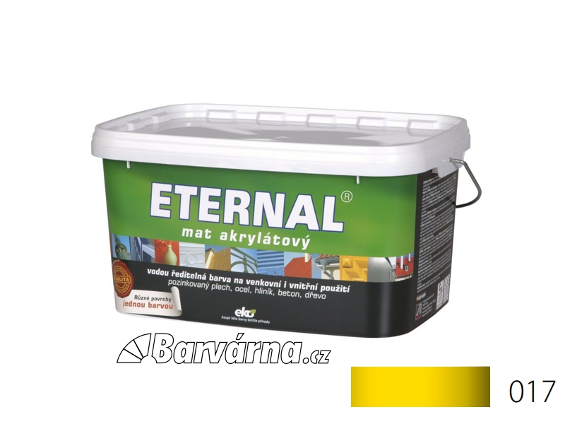 ETERNAL mat akrylátový 5 kg světle žlutý 017