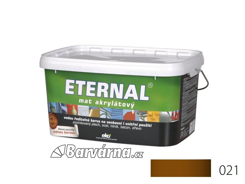 ETERNAL mat akrylátový 5 kg středně hnědý 021