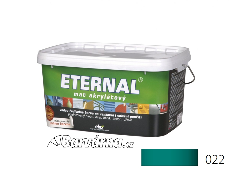 ETERNAL mat akrylátový 5 kg tmavě zelený 022