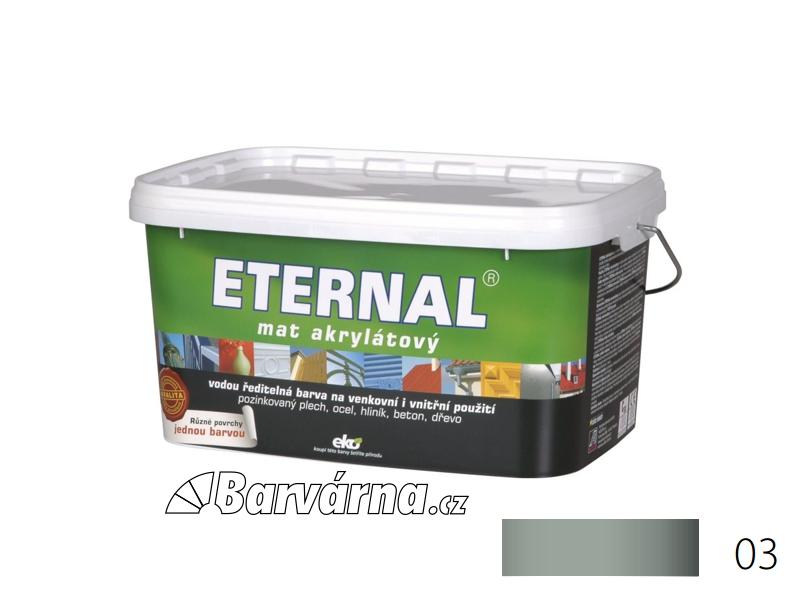 ETERNAL mat akrylátový 5 kg středně šedý 03