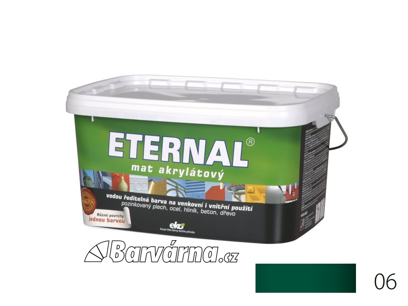 ETERNAL mat akrylátový 5 kg zelený 06