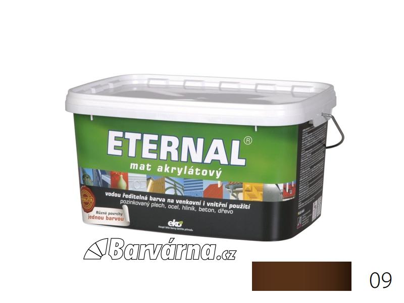 ETERNAL mat akrylátový 5 kg tmavě hnědý 09