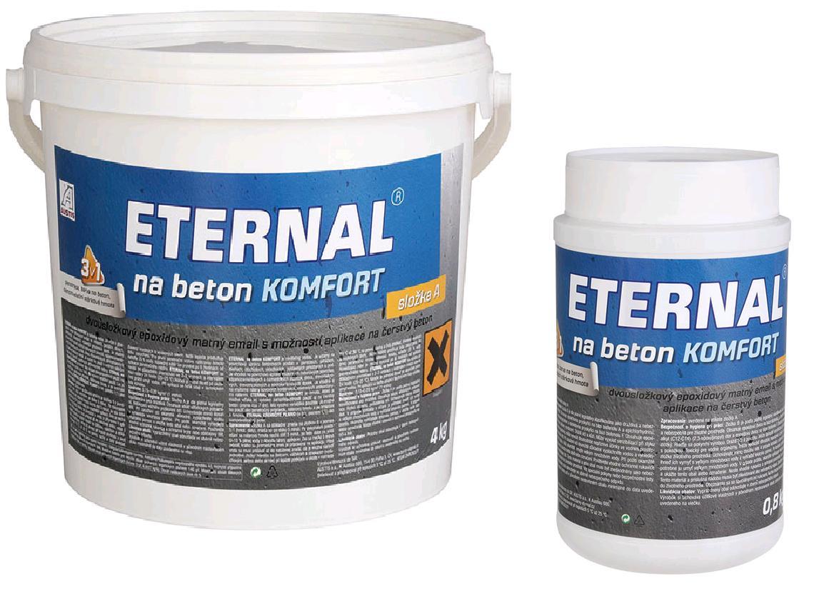 ETERNAL na beton KOMFORT šedý 4,8 kg (sada A 4 kg + B 0,8 kg)