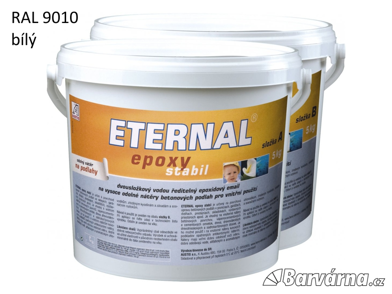 ETERNAL Epoxy Stabil RAL 9010 bílý 10 kg (sada A 5 kg + B 5 kg) AUSTIMIX