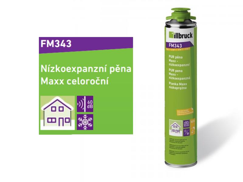 Illbruck FM343 - PU nízkoexpanzní pěna 850 ml GUN (celoroční)