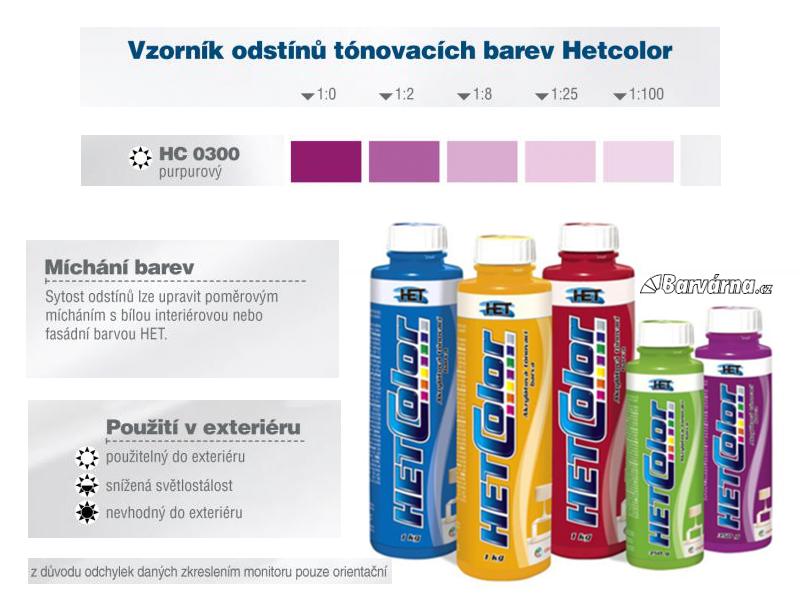 Hetcolor purpurový 0300 tónovací barva 1 kg