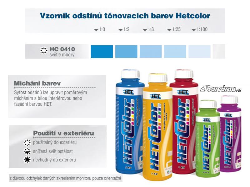 Hetcolor sv. modrá 0410 tónovací barva 1 kg