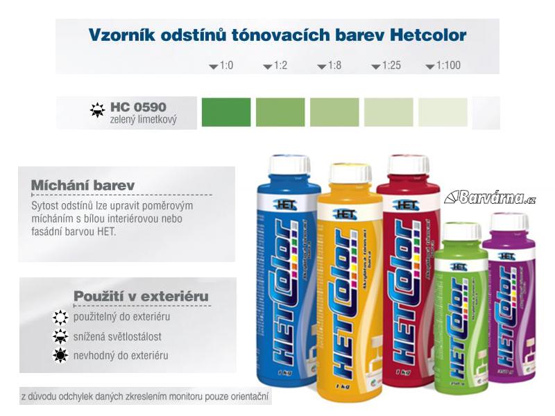 Hetcolor zelený limetkový 0590 tónovací barva 1 kg