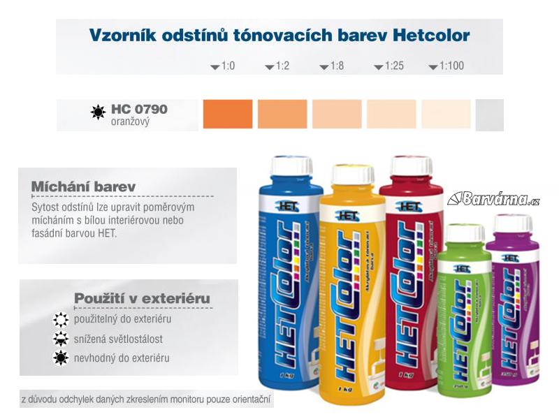 Hetcolor oranžový 0790 tónovací barva 1 kg
