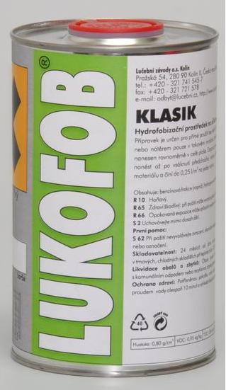 LUKOFOB KLASIK 1 L (0,8 kg) lahev - hydrofobizační přípravek (terasy, dlažby)