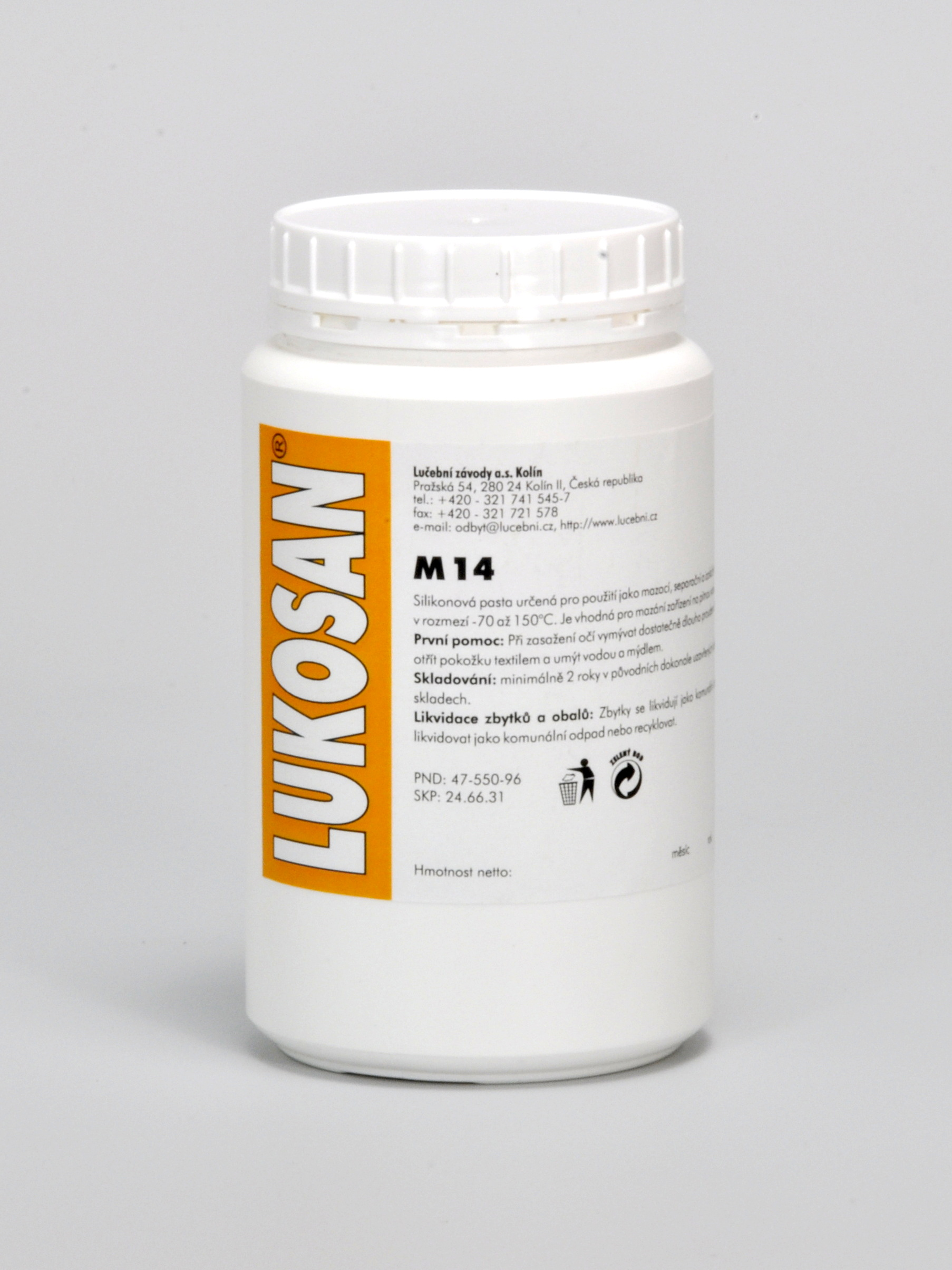 LUKOSAN M 14 silikonová pasta 1 kg doza