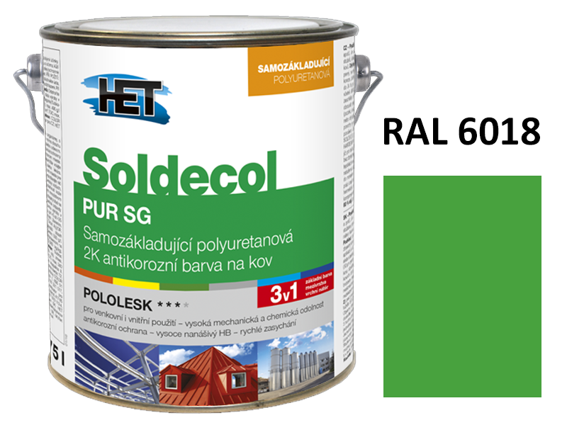 Soldecol PUR SG 2,5 L RAL 6018
