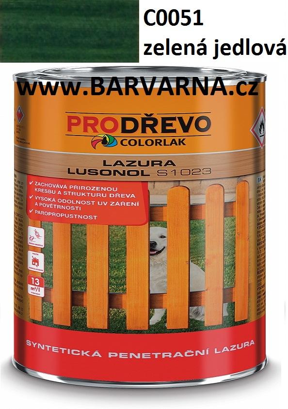 LUSONOL S 1023 zelená jedlová 0051 2,5 L
