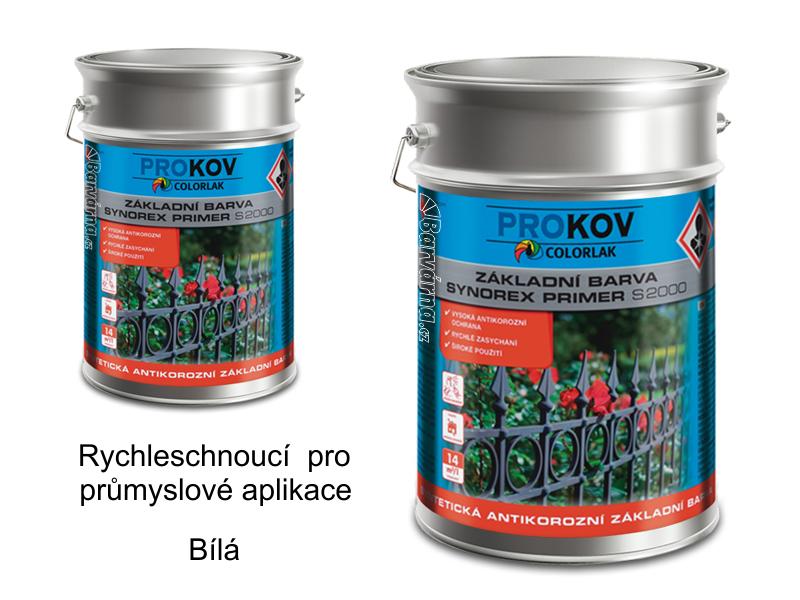Synorex primer S 2000 P 0100 / bílá 10 kg - základní antikorozní průmyslová barva