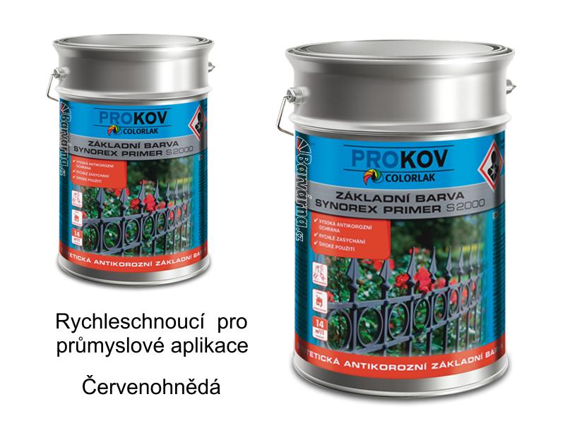 Synorex primer S 2000 P 0840 / červenohnědá 10 kg - základní antikorozní průmyslová barva