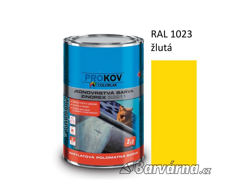 ZINOREX S 2211 žlutá RAL 1023 3,5 L