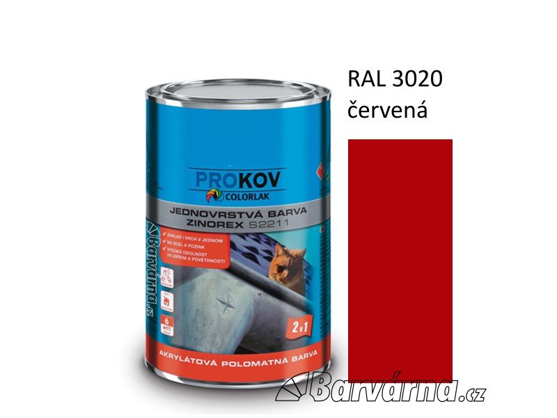 ZINOREX S 2211 červená RAL 3020 3,5 L