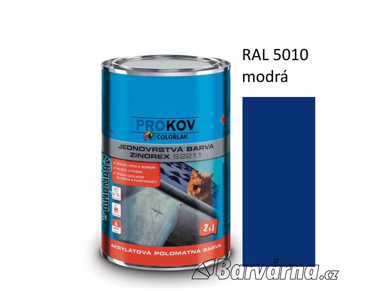 ZINOREX S 2211 modrý RAL 5010 3,5 L