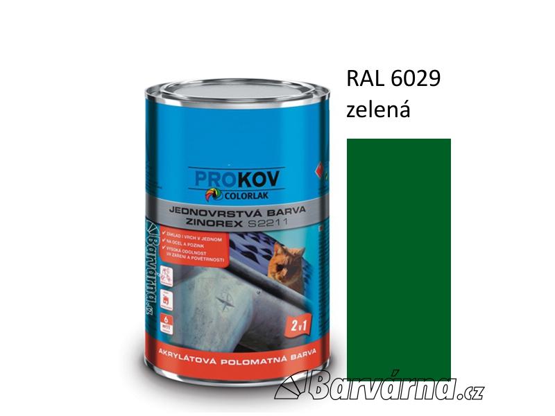 ZINOREX S 2211 zelená RAL 6029 3,5 L