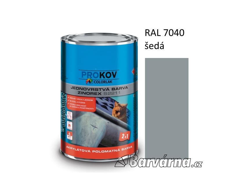 ZINOREX S 2211 šedá RAL 7040 3,5 L