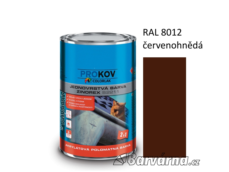 ZINOREX S 2211 červenohnědá RAL 8012 3,5 L