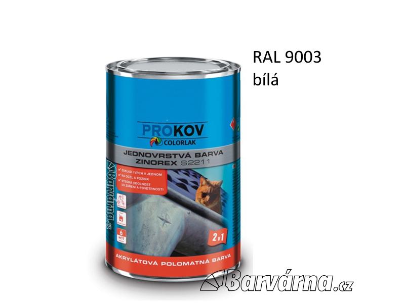 ZINOREX S 2211 bílá signální RAL 9003 3,5 L