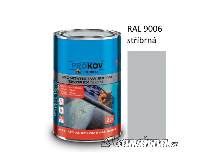 ZINOREX S 2211 stříbrná RAL 9006 3,5 L