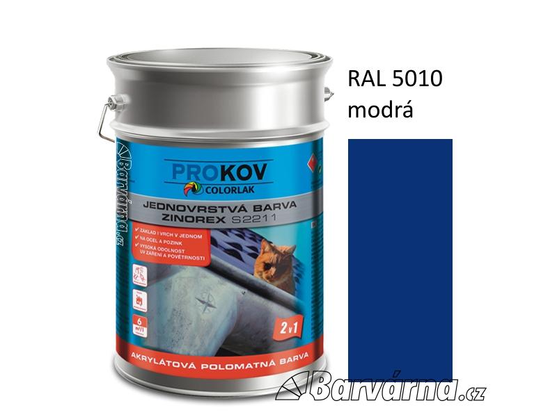 ZINOREX S 2211 modrá RAL 5010 9 L