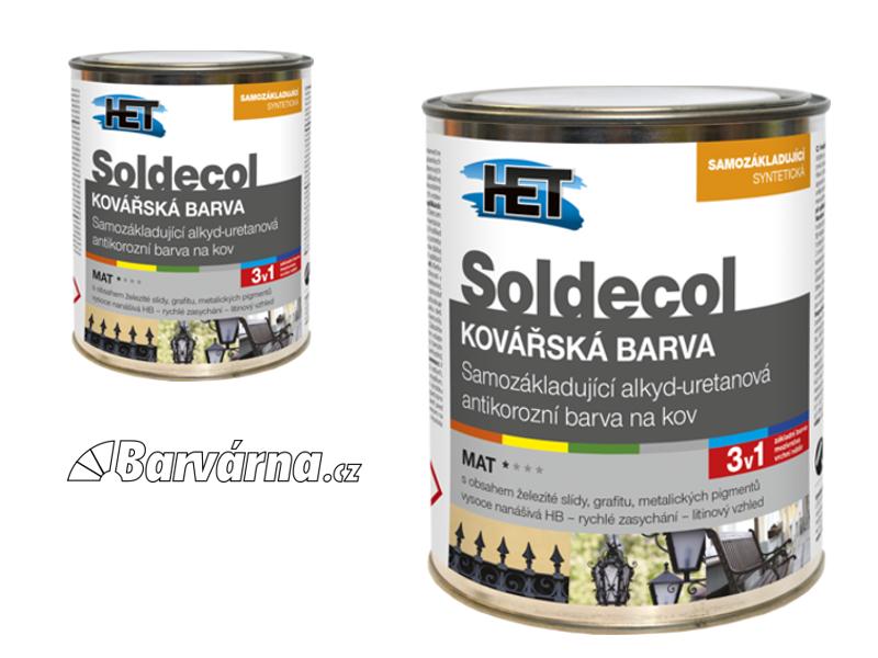 HET Soldecol Kovářská Barva 0,75 L černá (antracitově šedá)