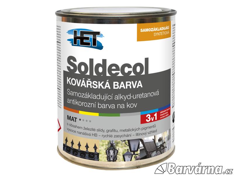 HET Soldecol Kovářská Barva 2,5 L černá (antracitově šedá)