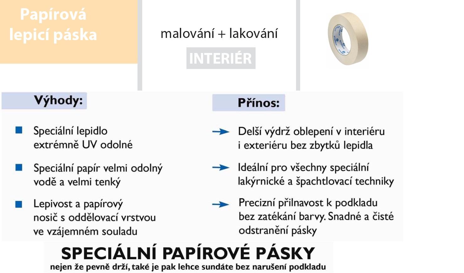 STORCH lepící páska 38 mm x 50 m papírová 60 °C (96023822)