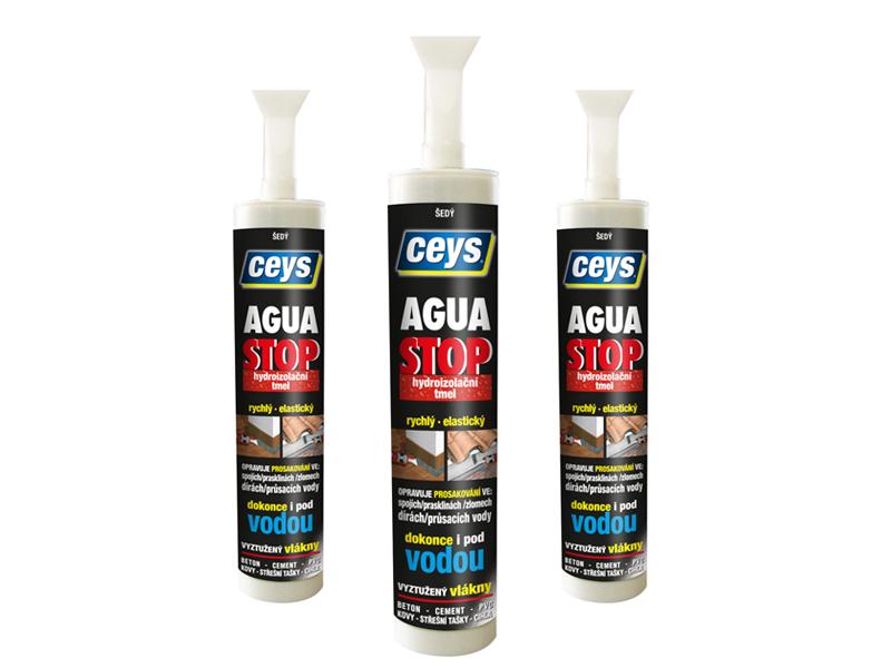 Ceys AGUA STOP šedý 300 ml - hydroizolační tmel s vlákny