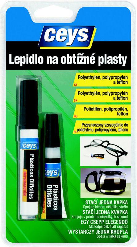 Ceys lepidlo na obtížné plasty 3 g + 4 ml (na polyetylen, polypropylen )